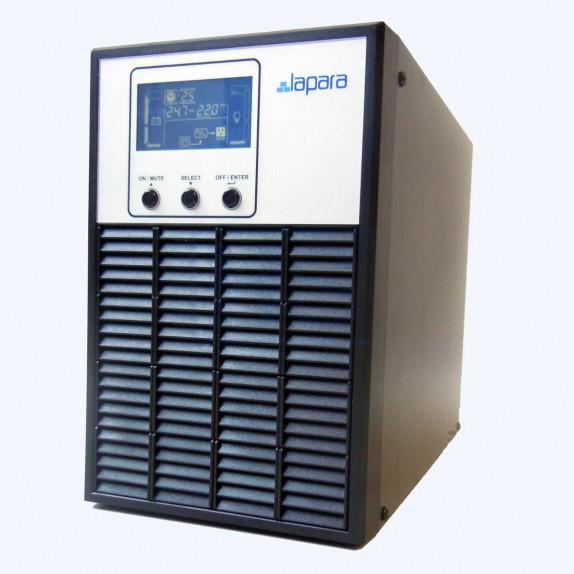 SAI Lapara 1000VA / 800W SH, on-line, doble conversión, 3x Schuko, USB/RS232, LCD