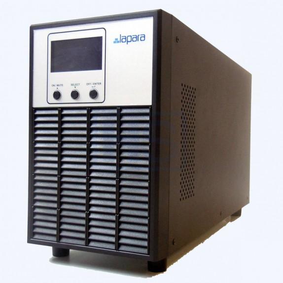 SAI Lapara 2000VA / 1600W SH, on-line, doble conversión, 3x Schuko, USB/RS232, LCD