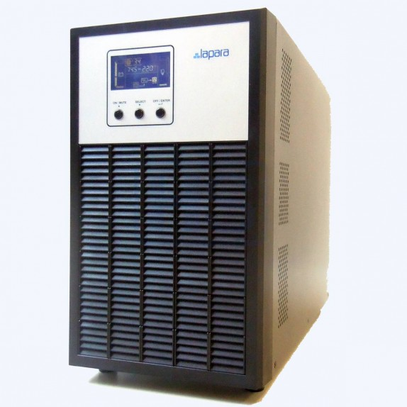 SAI Lapara 3000VA / 2400W SH, on-line, doble conversión, 4x Schuko, USB/RS232, LCD