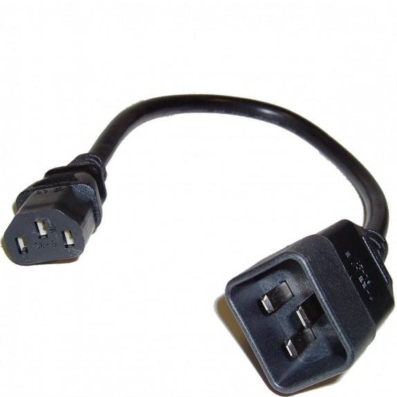 Cable Alimentación IEC-60320 0.2m (C13 / C20)