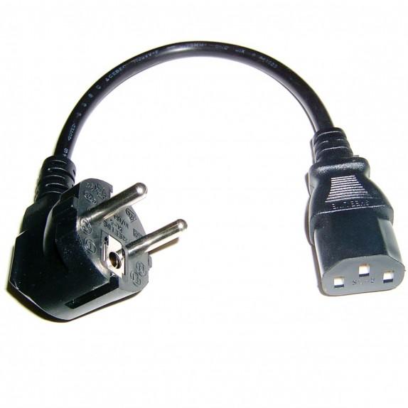 Cable eléctrico de alimentación IEC60320 C13-hembra a Schuko-macho 30cm