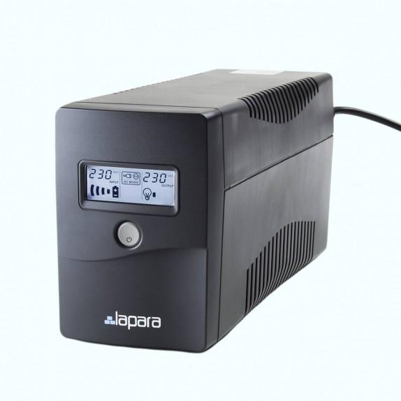 SAI Lapara 850VA / 480W, in-LINE, 2x Schuko, USB, RJ11, LCD