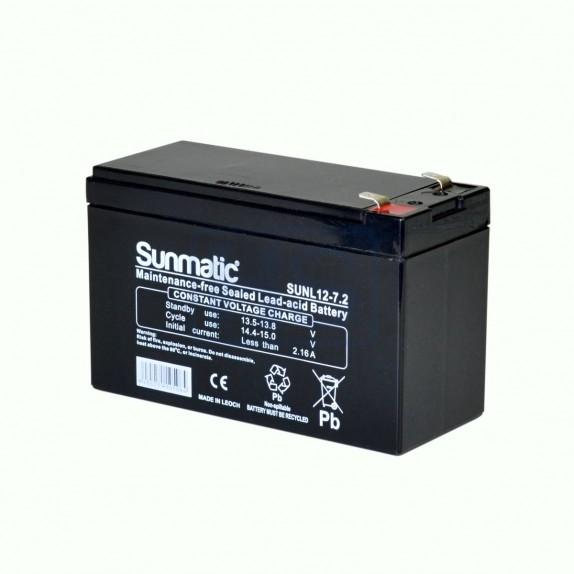 Batería AGM de 12V y 7.2Ah Sunmactic