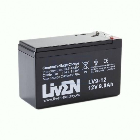Batería AGM de 12V y 9Ah LivEN