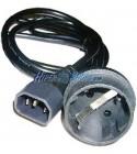 Cable Alimentación IEC-60320 1.8m (C14 / SCHUKO-H)