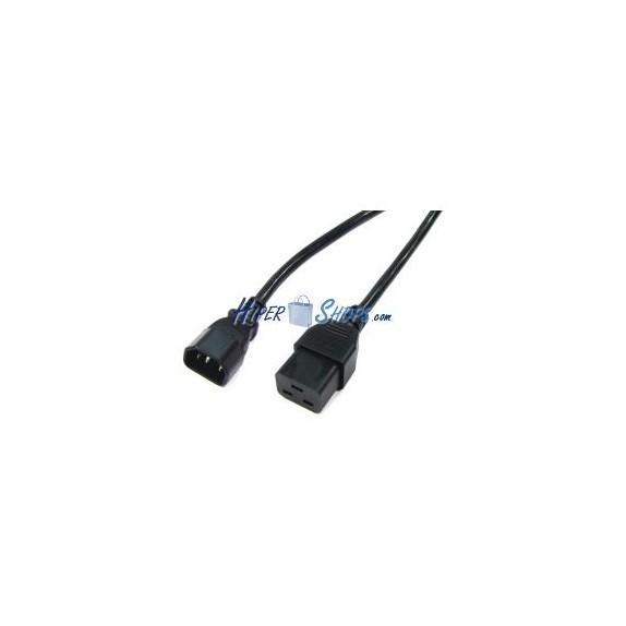 Cable Alimentación IEC-60320 0.2m (C14 / C19)