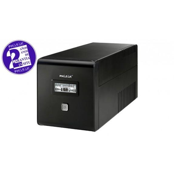 SAI Phasak interactivo 1000VA LCD USB con protección para RJ