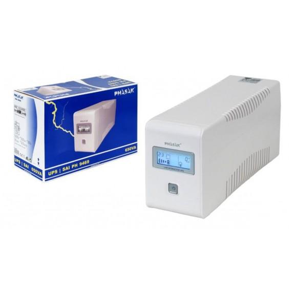 SAI Phasak 650VA LCD Blanca